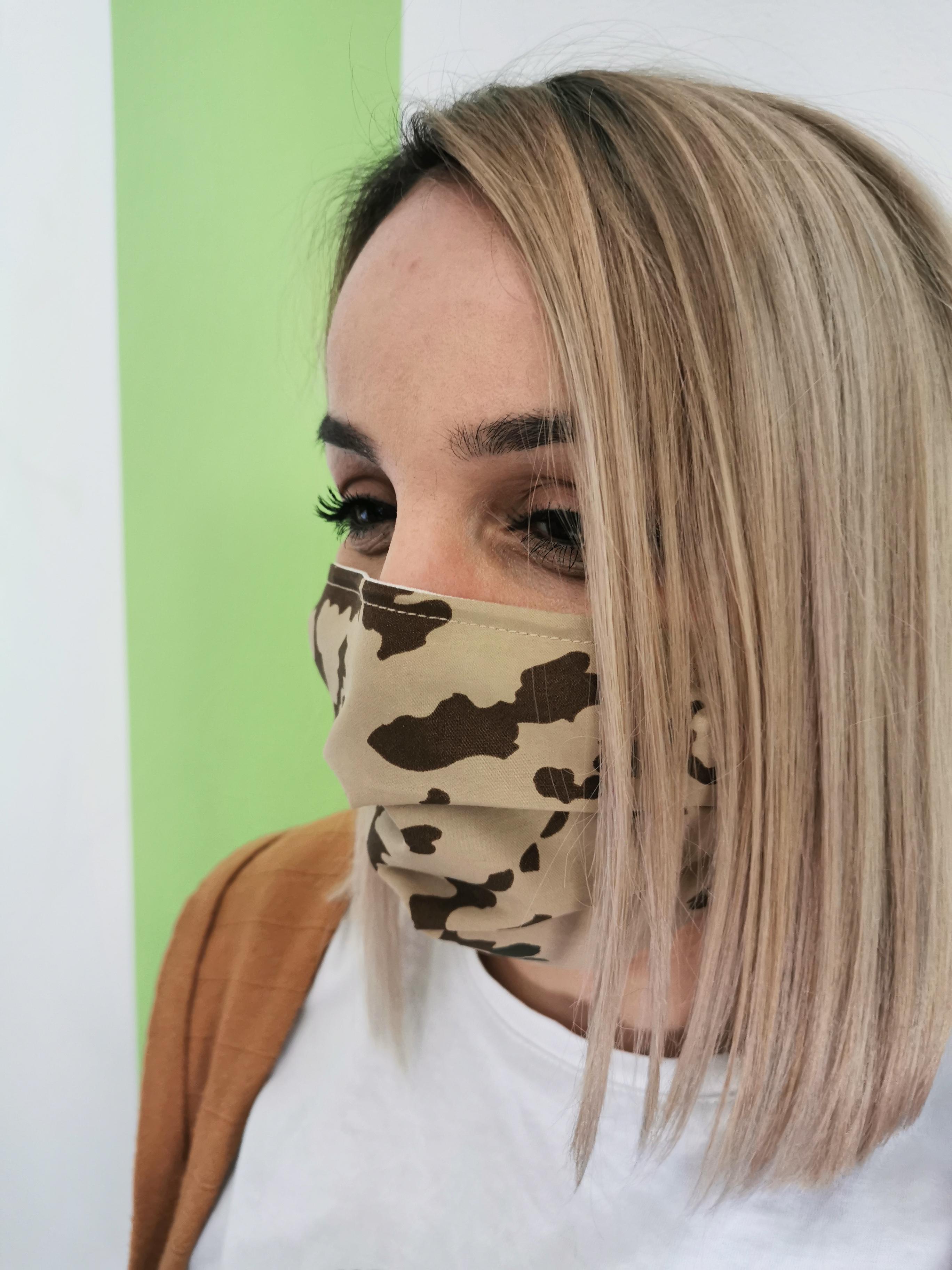 Behelfsmaske Mundmaske im Camouflage Style von Alzsteg Alpakas