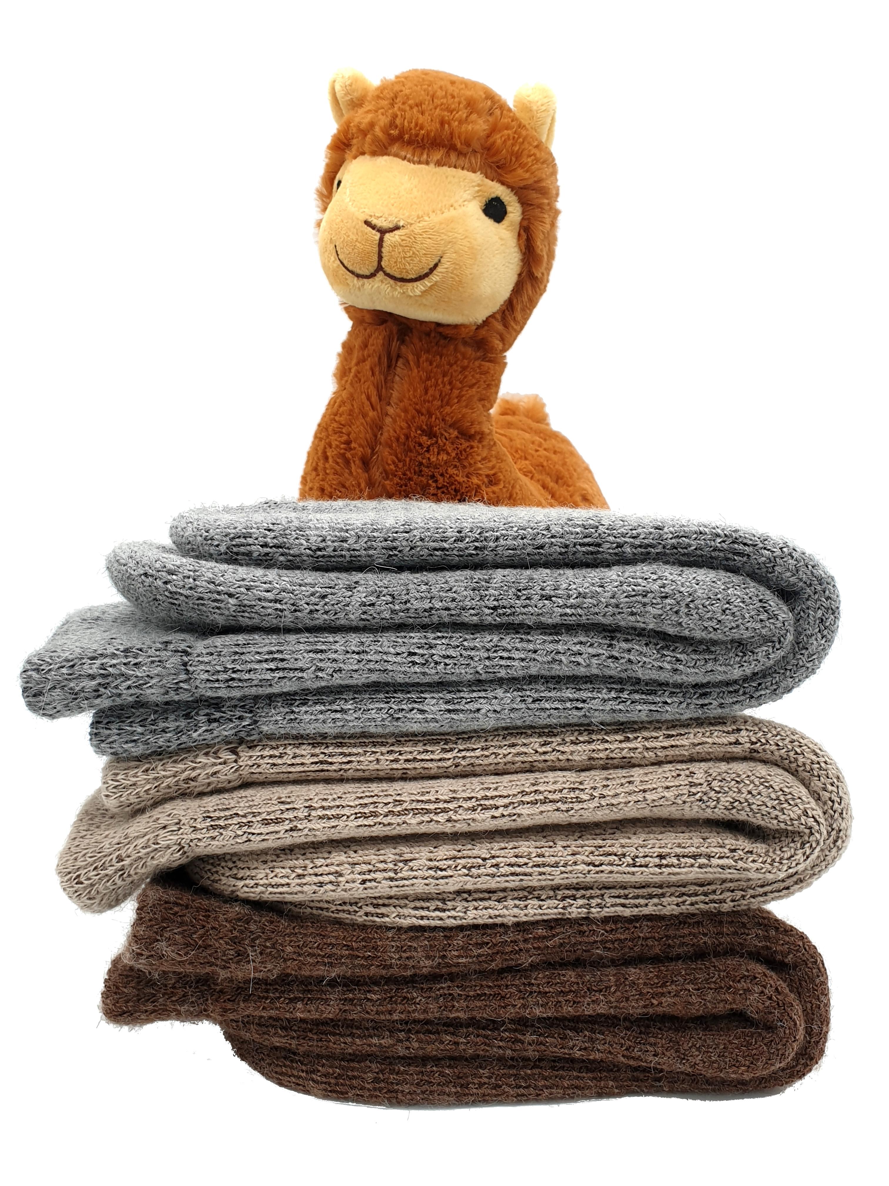 Alpaka-Socken für den Winter extra-warm