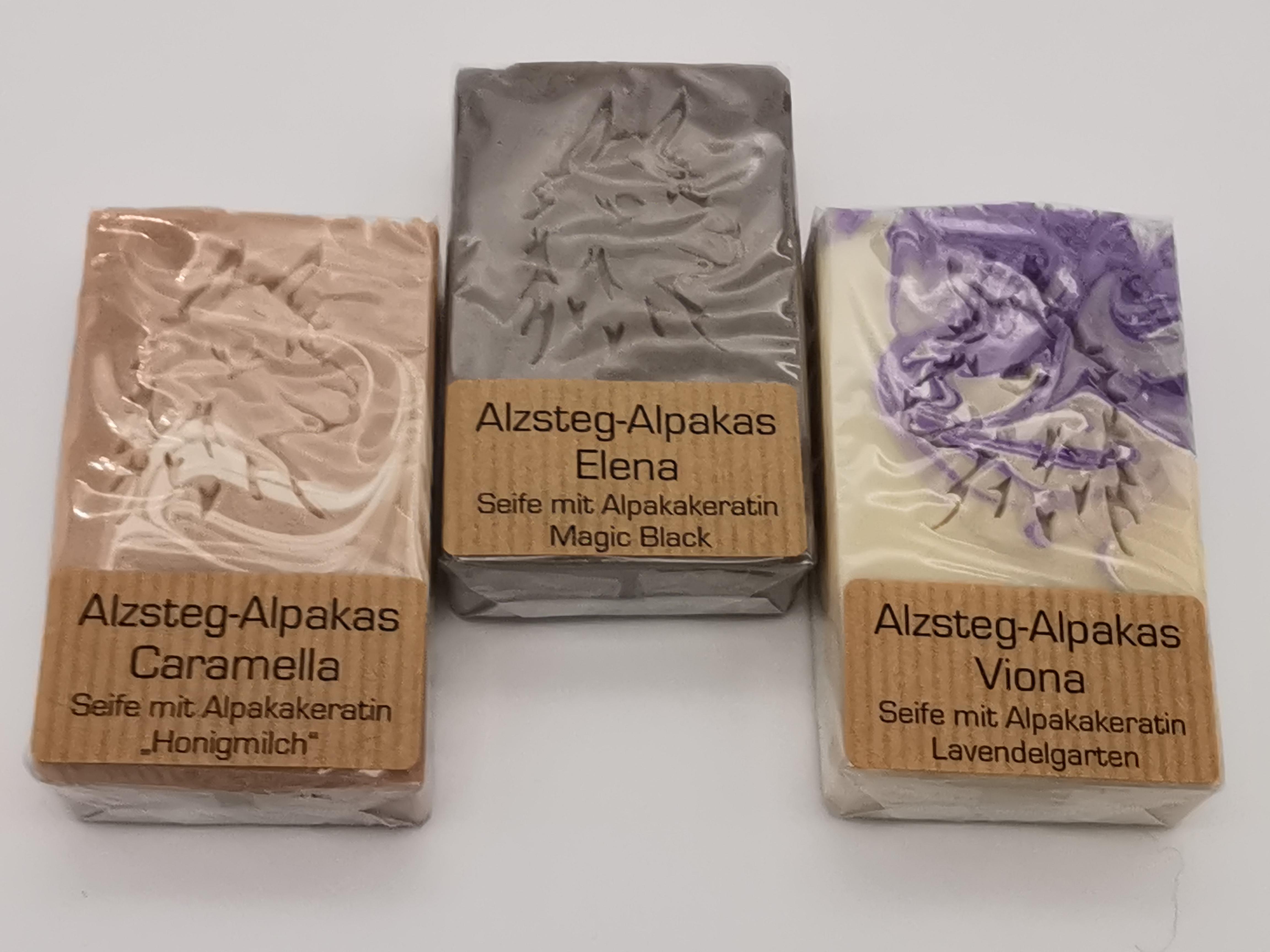 Pflegende Alpaka-Keratin-Seife handgesiedet