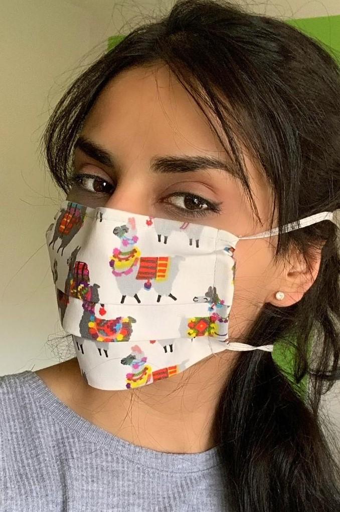 Gesichtsmasken Mund-Masken, verschiedene Farben im Alpaka-Design von Alzsteg Alpakas