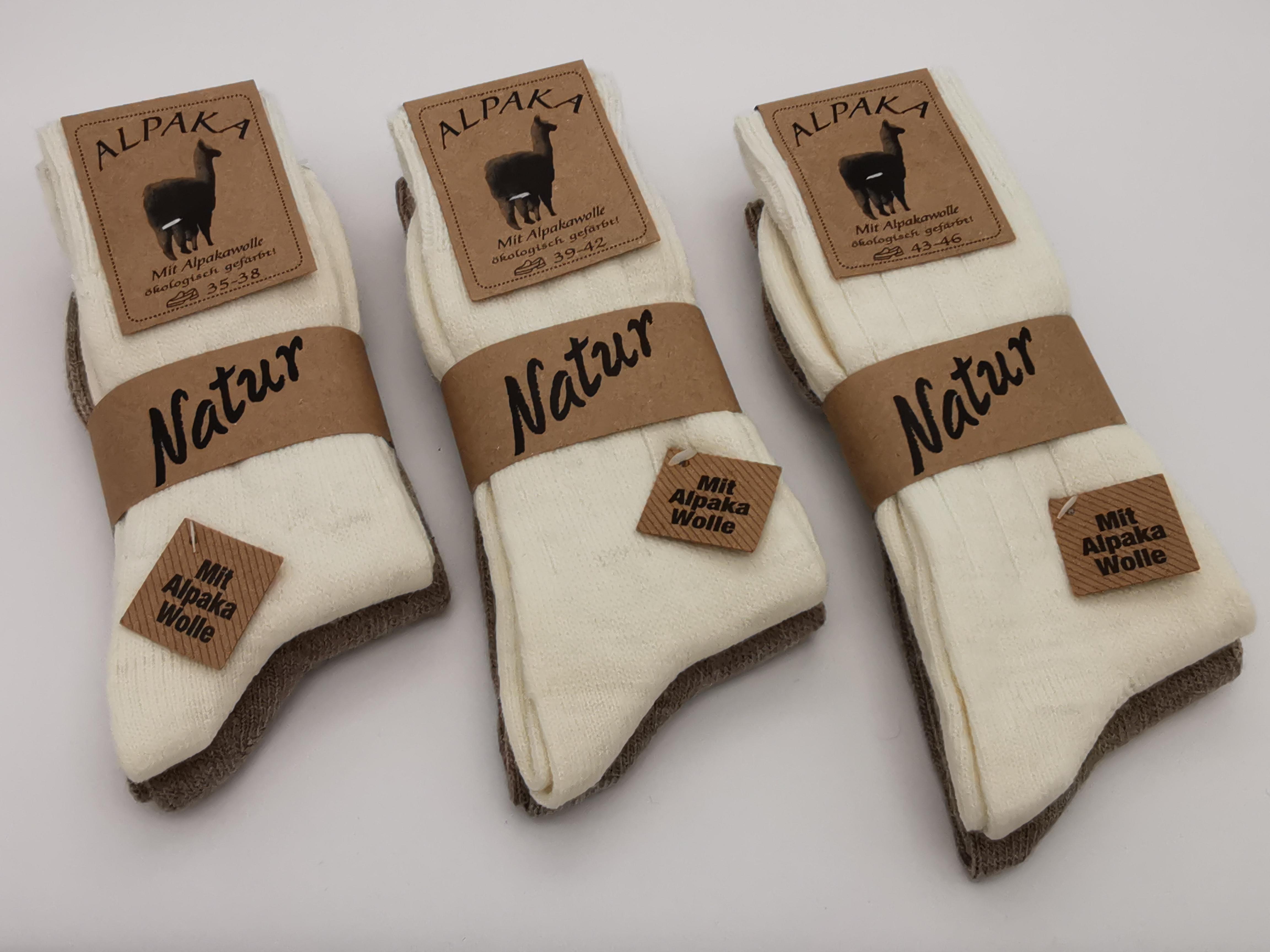 2 Paar Alpaka-Socken fein gestrickt