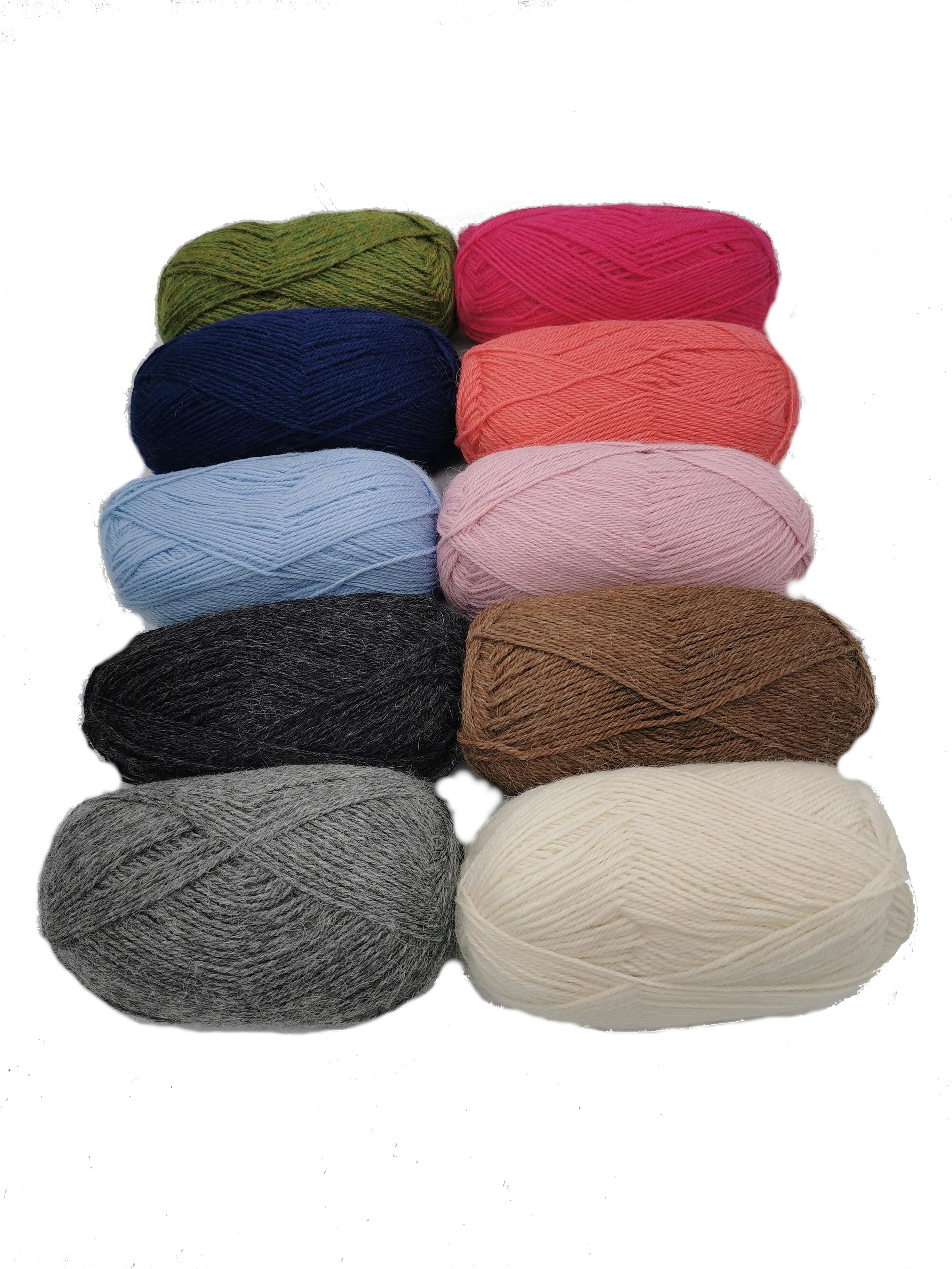 Baby-Alpaka-Wolle in vielen verschiedenen Farben